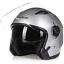 miniature 17 - Motorcycle-Helmet-Open-Face-w-Dual-Visor-Scooter-Unisex-Jet-Helmet-M-L-XL-XXL