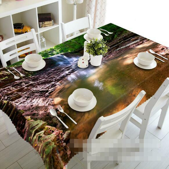 3D Creek Lake 07 Tablecloth Table Cover Cloth Birthday Party Event AJ WALLPAPER