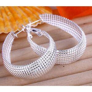 ASAMO-Damen-Ohrringe-oval-Creolen-925-Sterling-Silber-plattiert-O1064