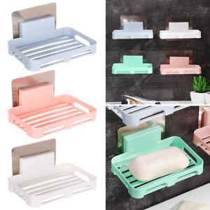 HK-Home Bathroom Shower Soap Dish Storage Holder Tray Plate Rack