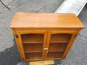 Solid Maple Kitchen Hutch Cabinet