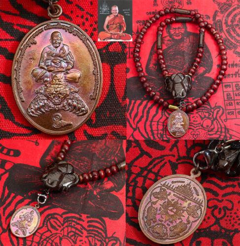 Rian Luang Phor Pern Wood Necklace Elephant head handmade Rare Thai Amulet Holy
