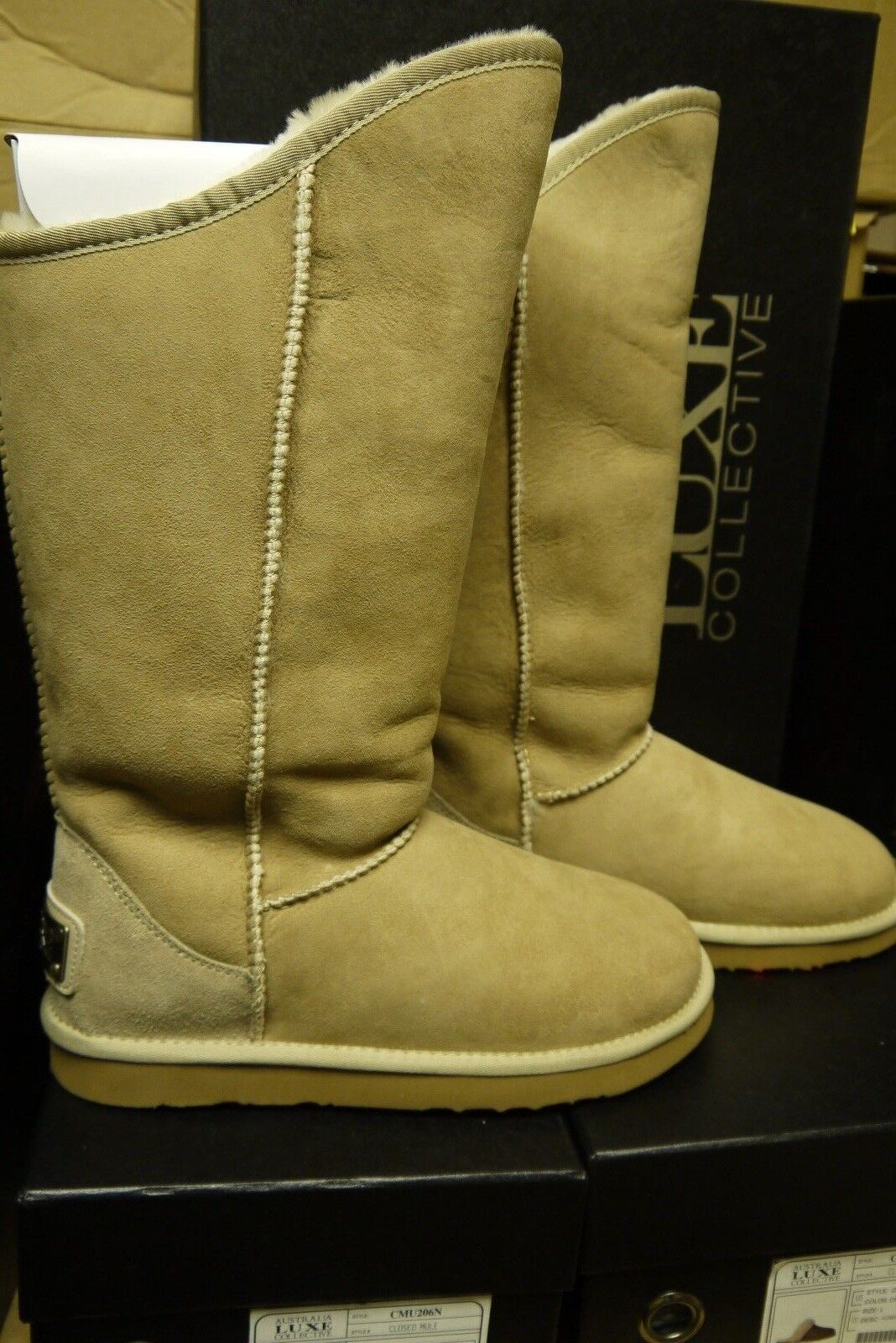 Australia Luxe Collective Collective Collective Cosy Tall Sand Size 5, 6, 7, 8, 9 Available- New 41d429