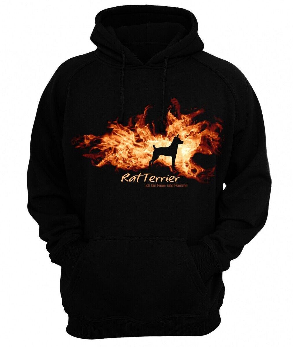 Sweatshirt RAT TERRIER FEUER UND FLAMME by Siviwonder Hoodie  | Zu einem erschwinglichen Preis  | Elegantes und robustes Menü  | Meistverkaufte weltweit