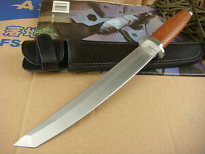 """14.7"""" SHARP COMBAT BOWIE RESCUE OUTDOOR UTILITY MILITARY SURVIVAL HUNTING KNIFE"""