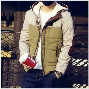 Fashion-winter-men-039-s-cotton-coat-hooded-warm-cotton-men-039-s-youth-jacket