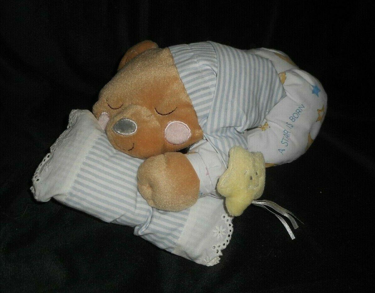 Vintage Sweet Dreamer Erste & Haupt Schlafend Teddybär Plüschtier Spielzeug