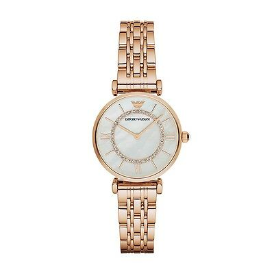 NEW EMPORIO ARMANI AR1909 LADIES ROSE GOLD GIANNI T-BAR WATCH - 2 YEAR WARRANTY
