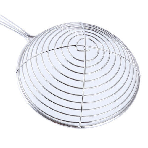 Stainless Steel Fryer Strainer Mesh Skimmer Sifter Sieve Colander Long Handle FM