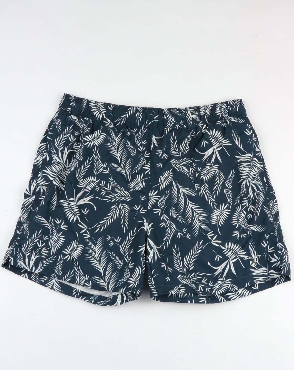 Gant Thin Leaves Swim Shorts in Navy bluee - swimmers, beach shorts, holiday