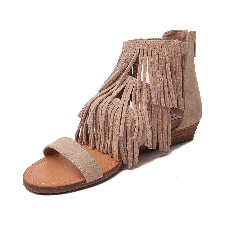 Frauen Offener Zeh leger Sandale mit Keilabsatz