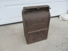 Vintage CI Anderson Stove Co Indiana Community U.S. Mail Mailbox From Bronx NY