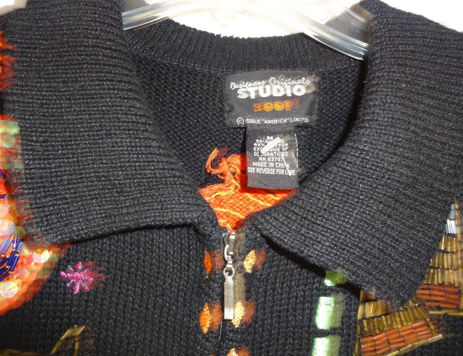 Vtg Cat Pumpkin Patch Ugly  Christmas Hallowen Sweater Sweater Sweater Vest Size 12-14 05e3a2