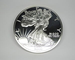 Image Is Loading 2000 United States Liberty Silver Eagle 1 2