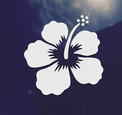 Hawaii Hawaiian Islands hibiscus flower #1 vinyl window decal car bumper sticker