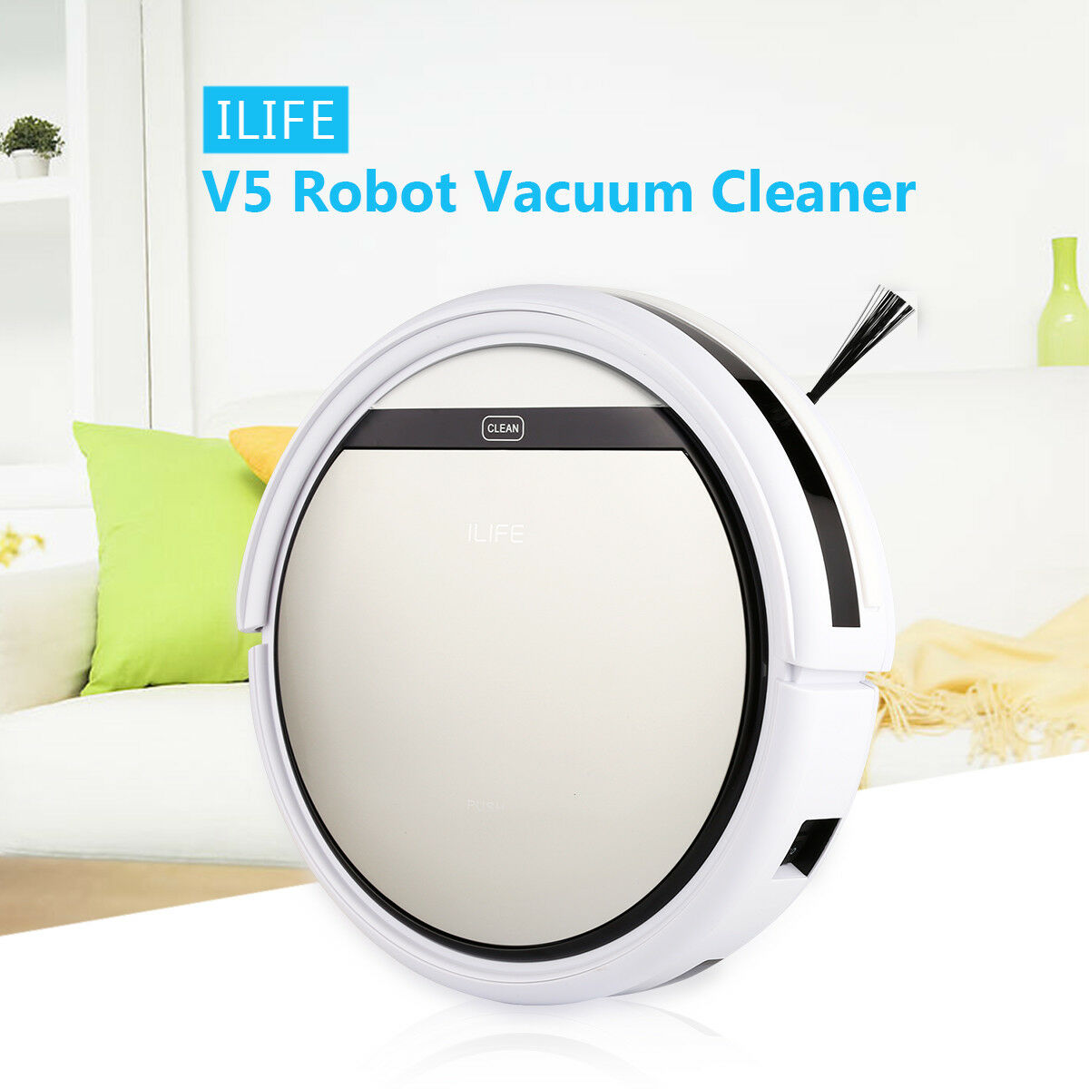 ILIFE V5 Smart Robot Floor Cleaner Auto Vacuum Microfiber Dust Clean Sweeping US