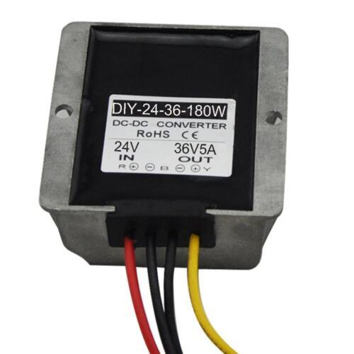 Dc 24V 18V -33 V ) Passo até 36V 5A Módulo Conversor Adaptador De Alimentação Do Carro Impermeável