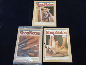 Shopnotes-1992-Volume-1-Issues-4-5-6-magazine-three-issue-LOT-D3f