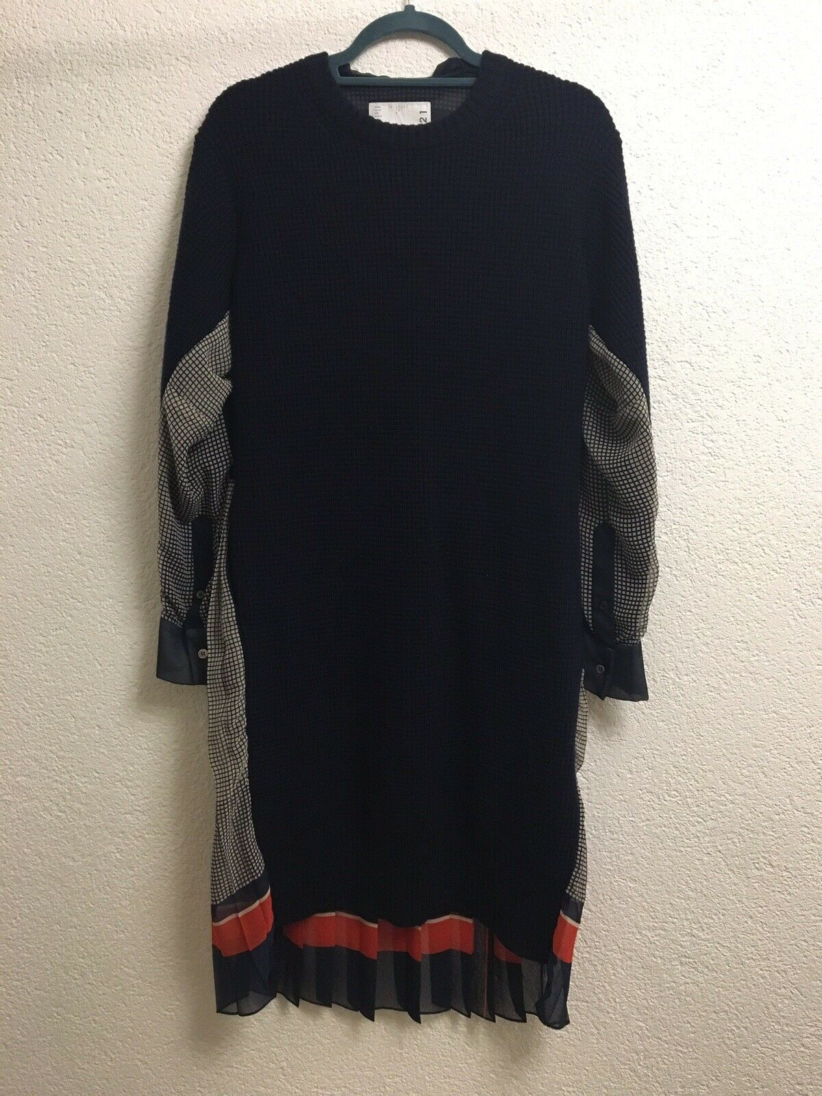 Sacai Dress Size L NEW   Kleid Größe L NEU