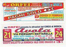 BIGLIETTO  SCONTO - CIRCO DI MOSCA - IRMA ORFEI ad Avola (SR)