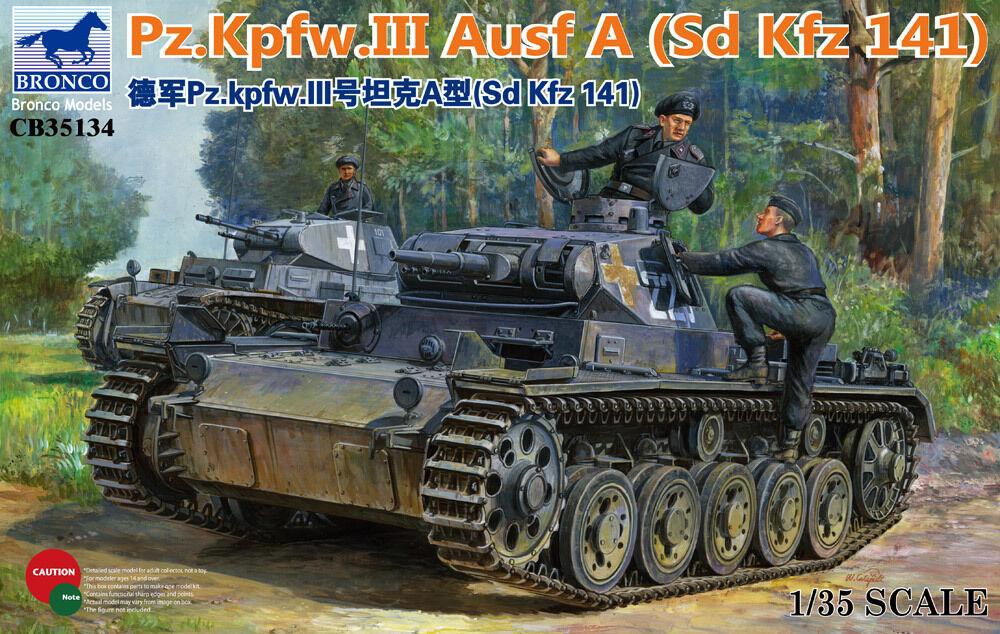 BRONCO CB35134 1 35 German Pz.Kpfw.III Ausf A(Sd.Kfz.141)