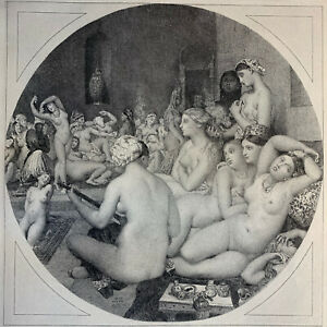 Ingres printmaking etching original strong water the turkish bath nude woman
