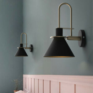 Details about Modern Wall Lamp Study Room Lighting Bedroom Black Wall Light  Home Wall Sconce