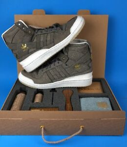 58870904b9f6 Adidas Forum Hi Crafted Charles F Stead Sneakers Shoe Pack Gray ...