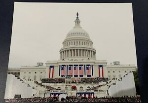 Official 2017 President Donald Trump Inauguration Silver Ticket Genuine Map Back
