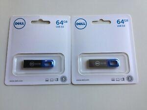 DELL LOT DE 2 CLÉS USB 3.0 64GB NEUVES