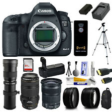 Canon 5D Mark III Digital SLR Camera Lenses Kit + 64GB + Battery Charger