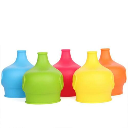 Silicone Sippy Cup Lids Kid Toddler Spill Proof Trainer Bottle Glass Sip Lid HS3