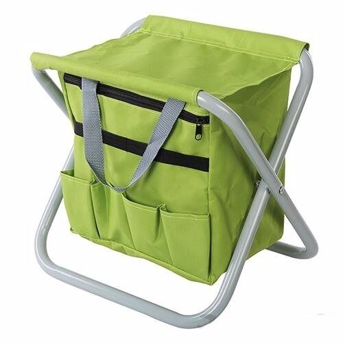 Folding Garden Stool Seat Gardening Sit 360 X 280 360mm Steel Frame U230 Ebay