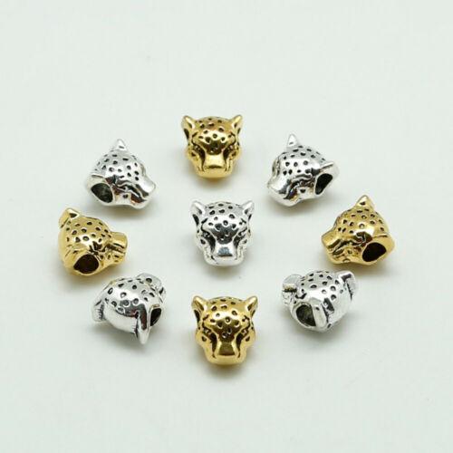 Leopard Alloy Beads Dreadlock Spacer Necklace Paracord Pendants Jewellery HD020