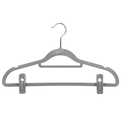 20x Non Slip Velvet Hangers Clips for Flocked Trouser Coat Clothes Pant Clip