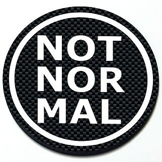 Not Normal MINI Cooper Magnetic Grill Grille Badge Round Magnet