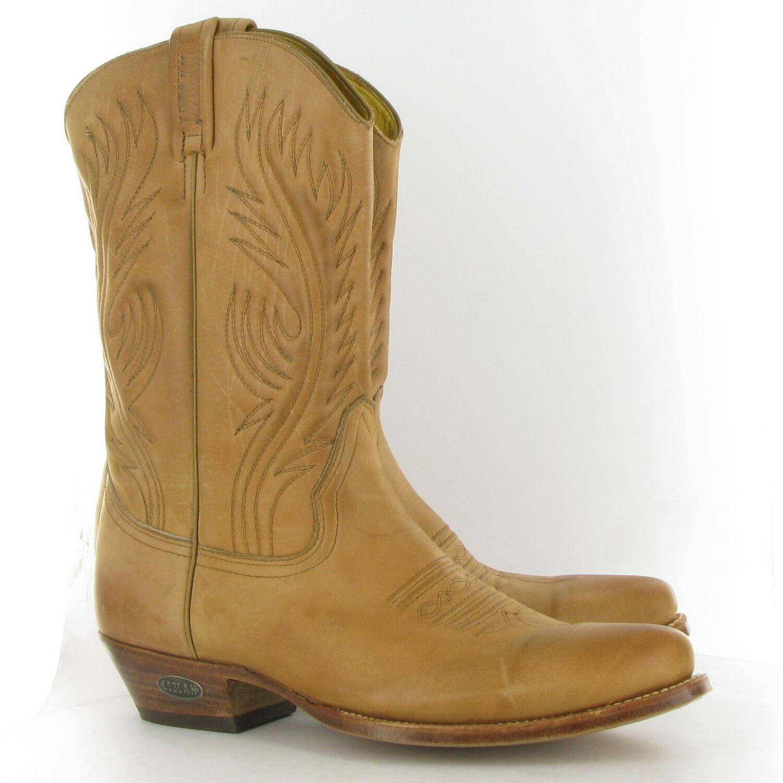 Loblan 194 Tan Men'S Beige Leder Cowboy Stiefel Handmade Classic Men'S Tan Western Boot 61d2b3
