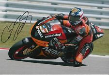 Colin Edwards Firmato a Mano NGM Mobile Forward Racing 12x8 foto MOTOGP 1.