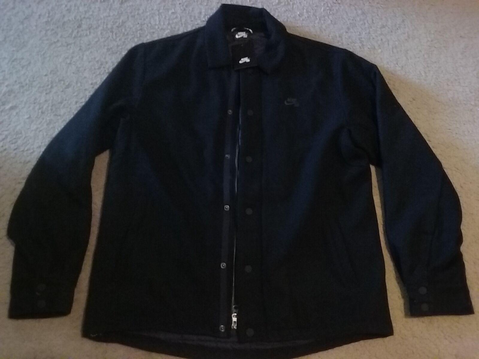 Grey 800982-071 Size Medium New Nike SB Wool Coaches Jacket