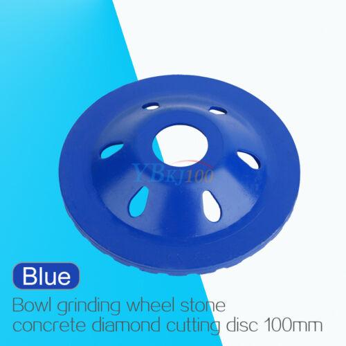 "Diamond Grinding Concrete Cup Wheel Disc Concrete Masonry Stone Grinder 4/"" blue"