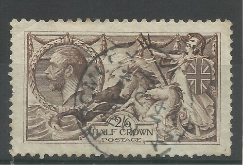 1913 Sg 400, Spec N63 3 26d Sepia Brown Seahorse with CDS, very fine used.