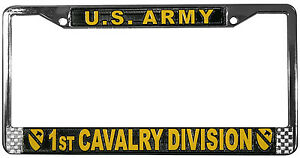 US-ARMY-1ST-CAVALRY-DIVISION-METAL-LICENSE-PLATE-FRAME-MADE-IN-USA