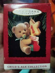RARE 2003 NEW HALLMARK BABYS SECOND CHRISTMAS ORNAMENT CHILDS AGE COLLECTION