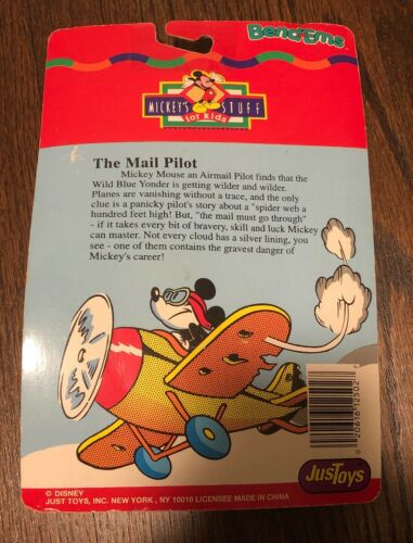 """Disney JusToys Mickey/'s Stuff For Kids Mail Pilot /""""Minnie/"""" Bend-Ems New Sealed"""