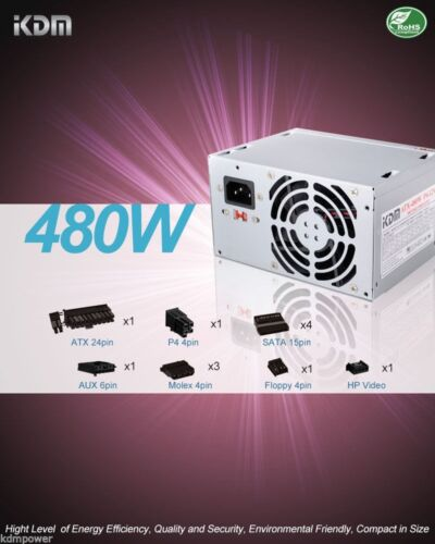 NEW 480W Bestec ATX-250-12Z Rev D7R  Power Supply Replace//Upgrade 50N.10