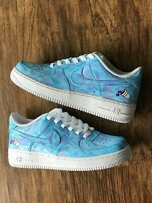 Nike Air Force 1 Size 12 Custom Blue Purple Cotton Candy Ebay