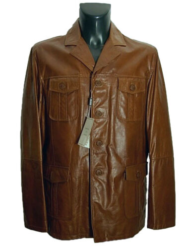 Made Giubbotto Italy Vera Tg 54 New In Leather It Uomo Pelle Jacket Giaccone r0Bxazqr