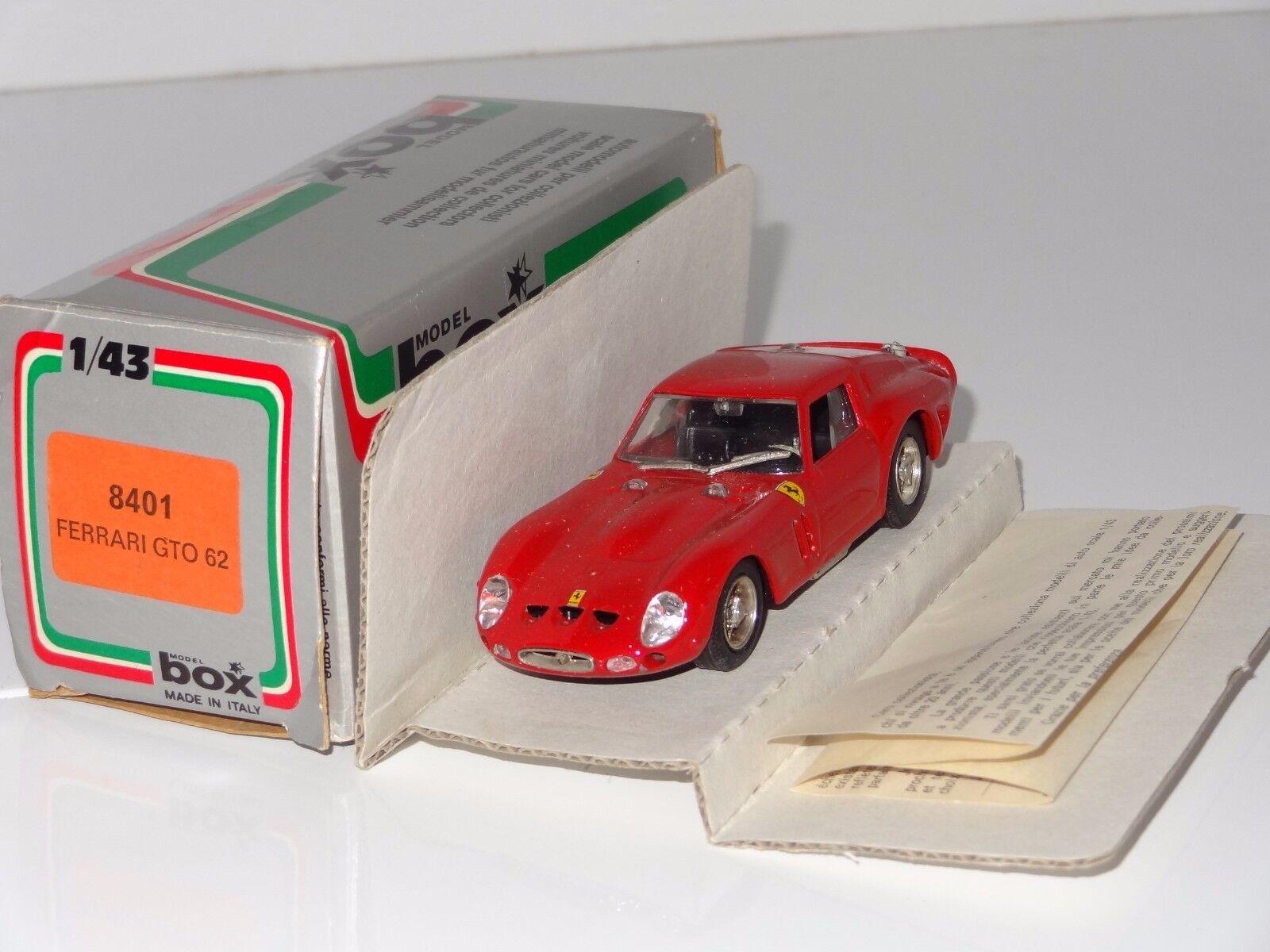 (F)  Model Box FERRARI GTO '62 - 8401
