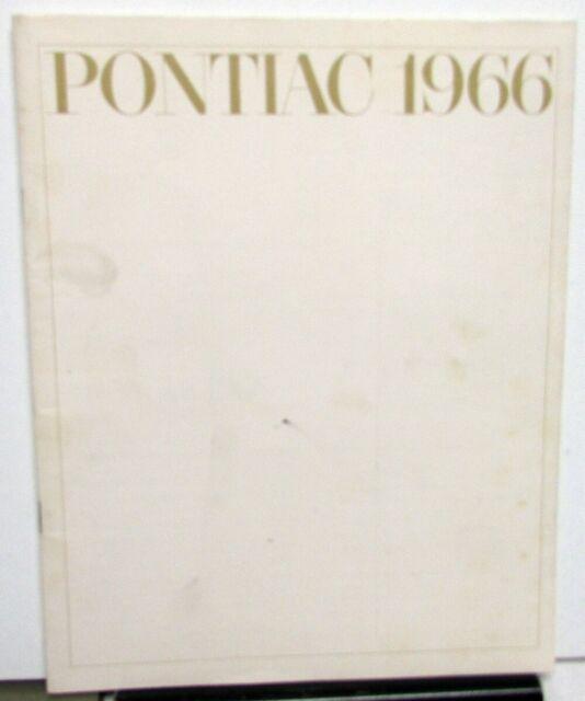 1966 Pontiac Tempest LeMans GTO Catalina Bonneville Grand Prix Sales Brochure