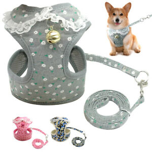 Small-Dog-Harness-amp-Leads-Pet-Puppy-Soft-Mesh-Padded-Vest-Chihuahua-Grey-Pink